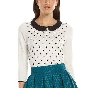 ELLE™ Dot Crewneck Sweater in Heather Grey